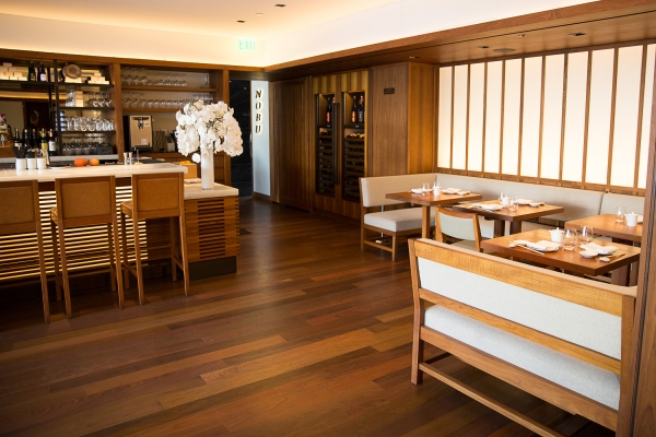 The Dining Room At Nobu Palo Alto. Photo By Michelle Le.