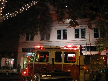 four alarm fire erupts in downtown palo alto news palo alto online. Black Bedroom Furniture Sets. Home Design Ideas