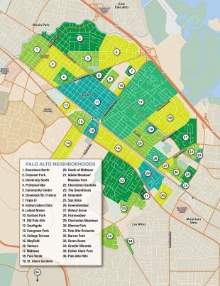 Map Of Palo Alto Palo Alto neighborhoods   News   Palo Alto Online   Map Of Palo Alto