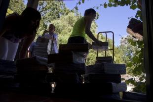 Restoration Hardware Return Policy residents return stacks of catalogs to palo alto restoration