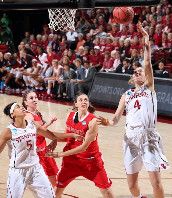 Cardinal women survive tough NCAA basketball opener