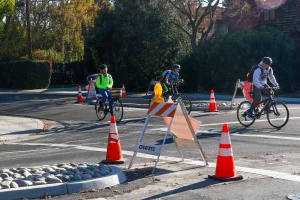 New Traffic Calming Islands On Allen >> Residents Petition City Over Ross Road Safety Upgrades News Palo