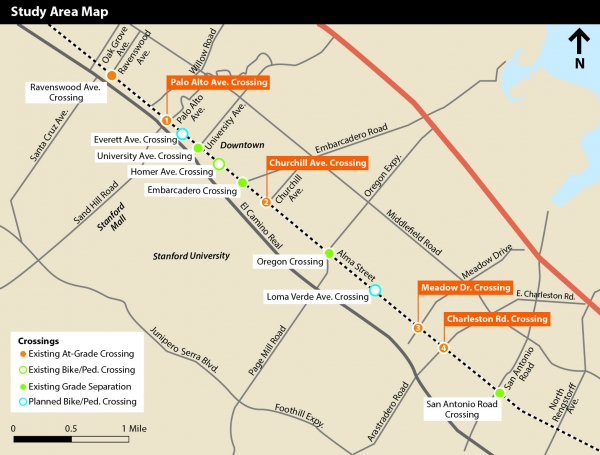 Palo Alto narrows down options for rail redesign News Palo Alto