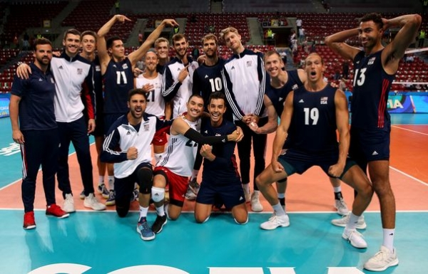 USA men's volleyball beat Iran with a crew of backups ...