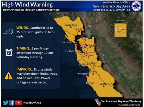 Bay Area Under High Wind Warning Flash Flood Watch News Palo