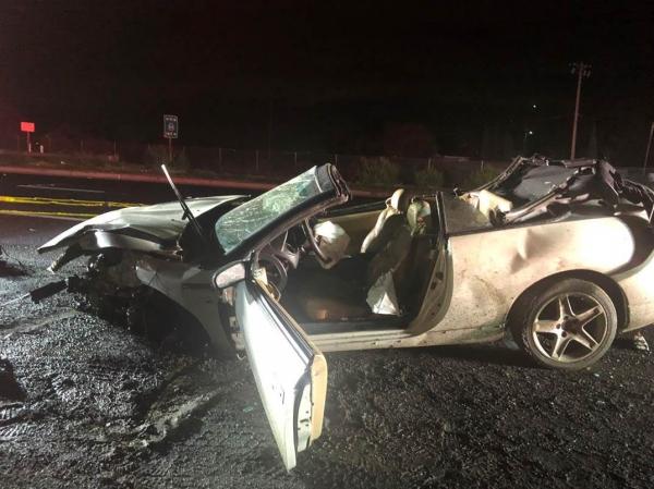Rollover crash injures three in East Palo Alto | News | Palo Alto