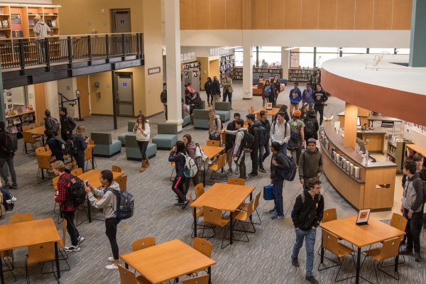 Palo Alto High School Students Admire The Newly Renovated Library, Which  Officially Opened To Students On Feb. 6, 2019. The New Space Features New  Study ...