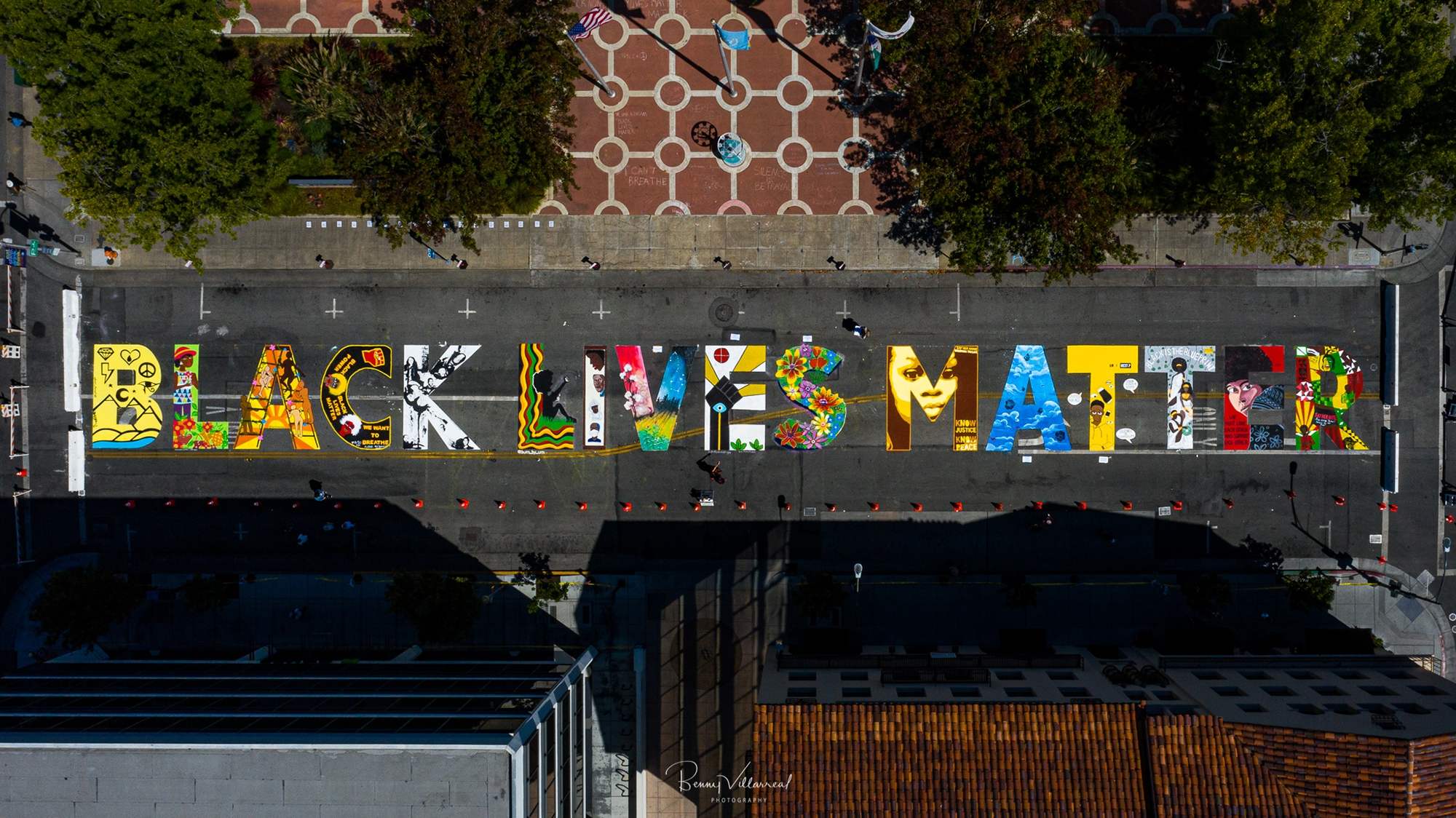 One Message Told 16 Ways Artists Behind Black Lives Matter Mural In Palo Alto Ask What More Will Be Done Beyond Street Art News Palo Alto Online