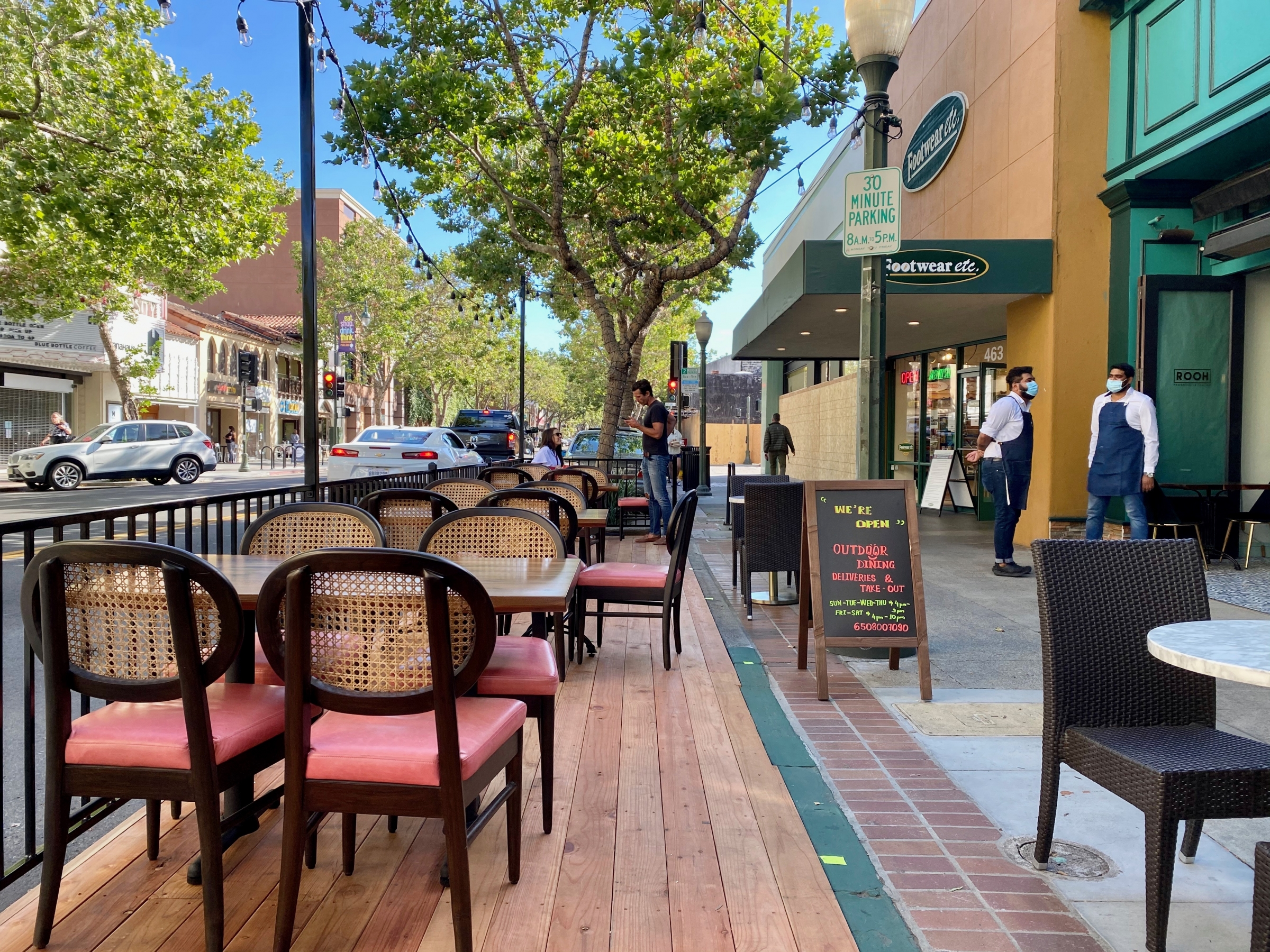 The First Big Exhale In Awhile After Months Of Takeout Restaurants Reopen For Outdoor Dining News Palo Alto Online